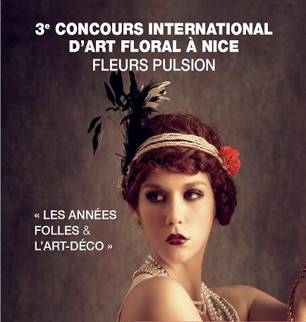 3ème concours international d'art floral à Nice – Fleurs pulsion