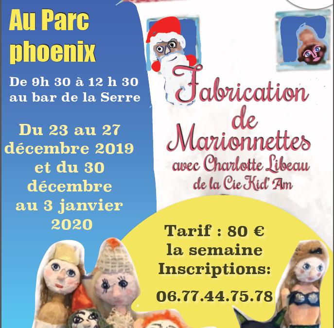 Stage de création de marionnettes – Vacances de Noël